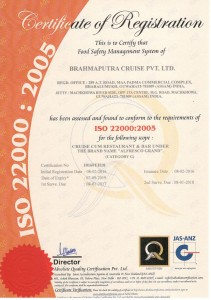 ISO 22000-2005 Certified Company